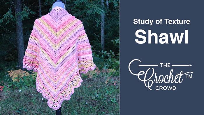 Crochet Study of Texture Shawl Pattern