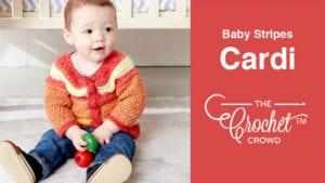 Crochet Baby Stripes Cardigan
