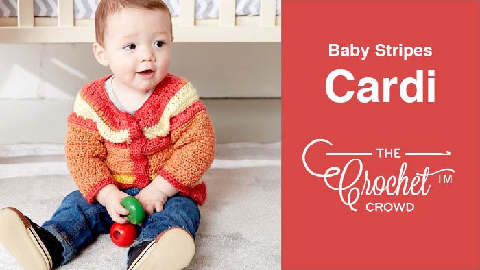 Crochet Baby Stripes Cardigan