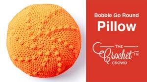 Crochet Bobble Go Round Pillow