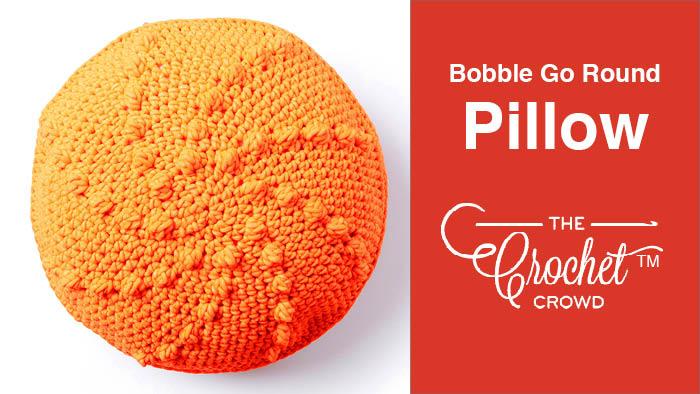 Crochet Bobble Go Round Pillow Pattern