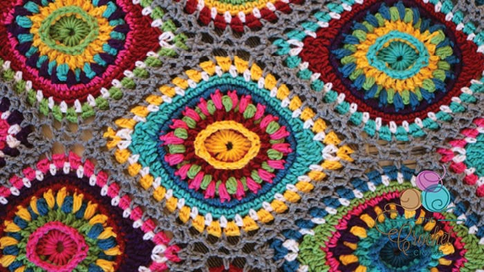 Boho Ornament Afghan Face Down