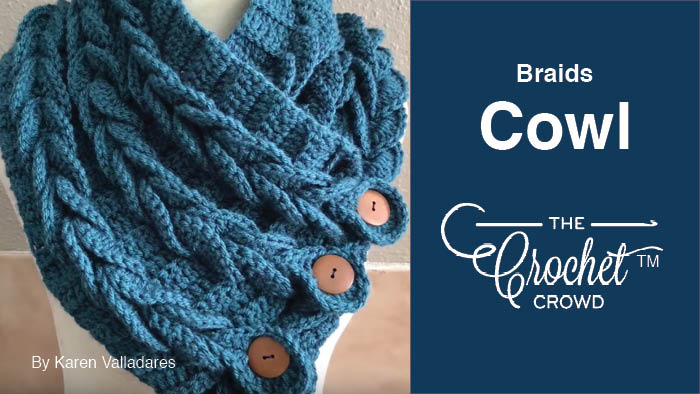 Crowd Braids Cowl + Tutorial | The Crochet Crowd
