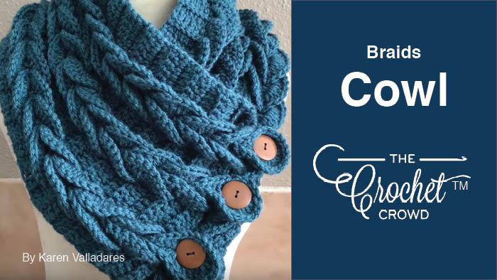 Crochet Braids Cowl