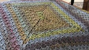 Crochet C2Cx4 Rectangle Blanket