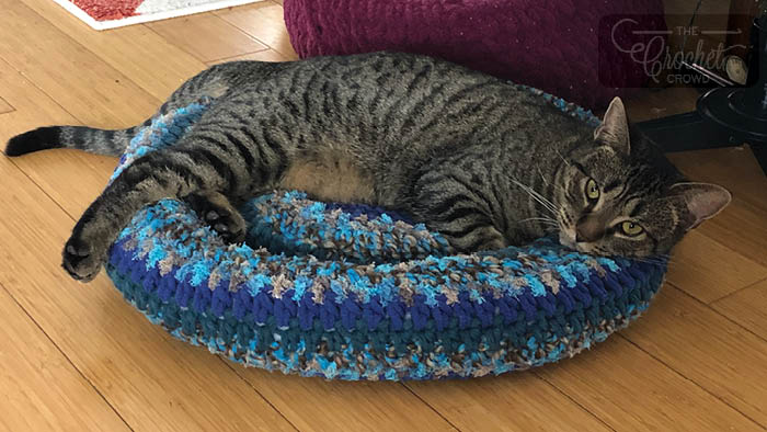 Crochet Padded Rim Cat Nap Bed