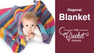 Crochet Diagonal Blanket