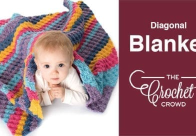 feb92f457cf Crochet Diagonal Baby Blanket + Tutorial