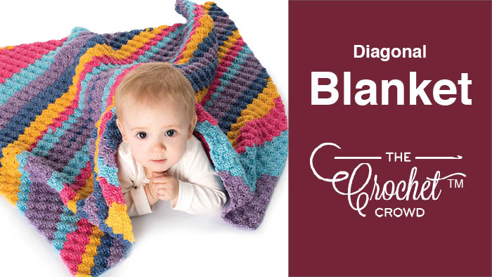 Crochet Diagonal Blanket