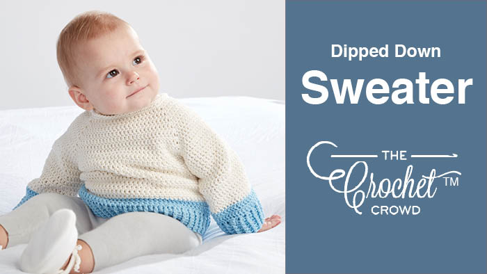 Crochet Dipped Baby Sweater Pattern
