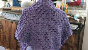 Easy Shells Crochet Shawl