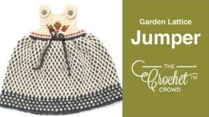 Crochet Garden Lattice Jumper