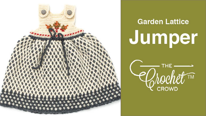 Crochet Garden Lattice Jumper