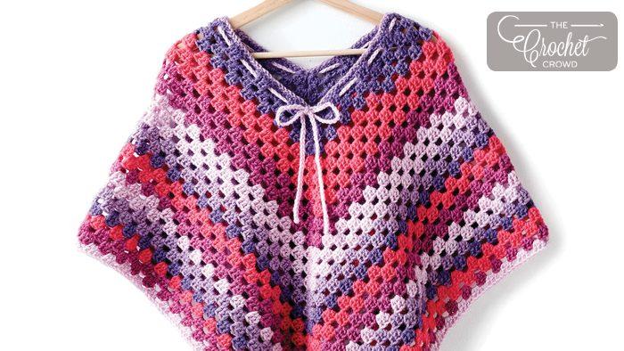 Crochet poncho free pattern | beautiful crochet stuff.