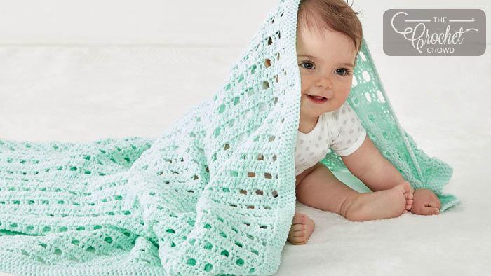 Crochet Happy Baby Blanket Pattern + Tutorial