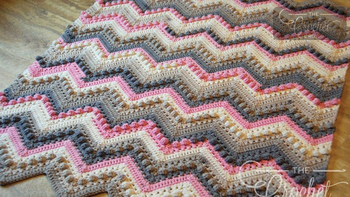 Crochet Hugs & Kisses Baby Blanket Pattern