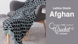 Crochet Lattice Shells Afghan