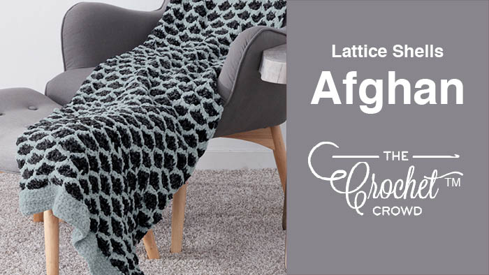 Crochet Lattice Shells Afghan