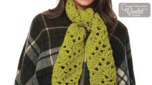Crochet Mesh Chevron Scarf