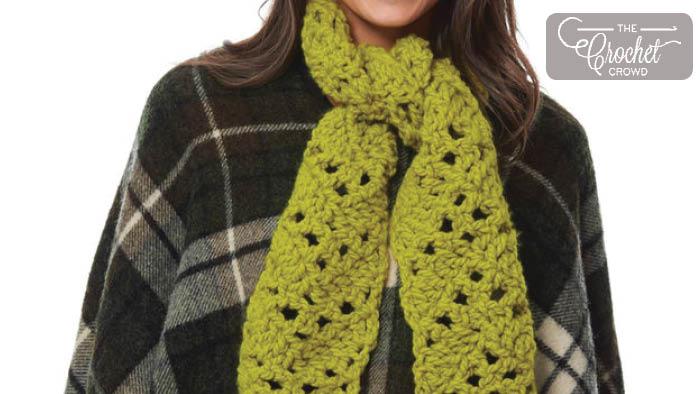 Crochet Mesh Chevron Scarf Pattern + Tutorial