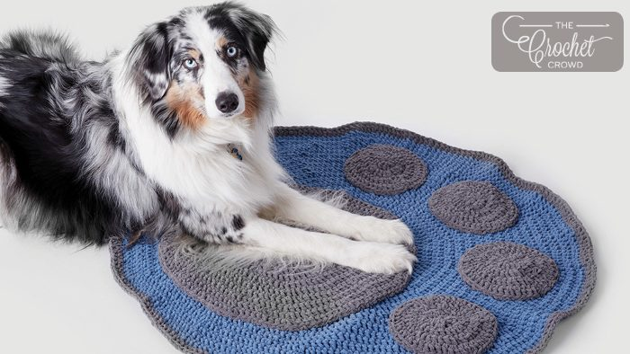 Crochet Paw Blanket Pattern