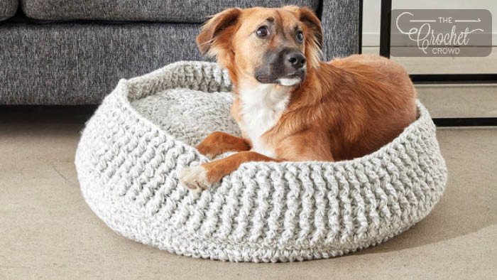 Crochet Pet Bed Pattern + Tutorial