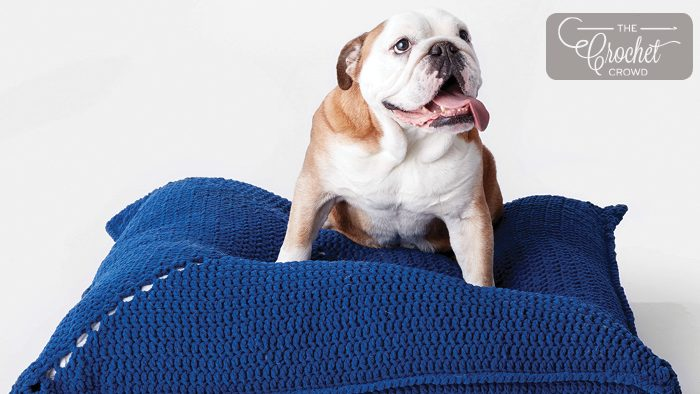 Crochet Dog Bed Pattern + Tutorial
