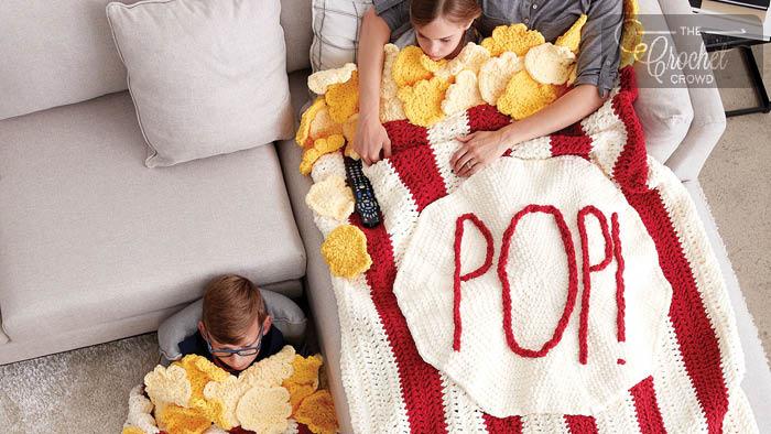 Crochet Popcorn Snuggle Sack