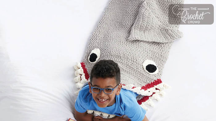 Crochet Shark Snuggle Sack
