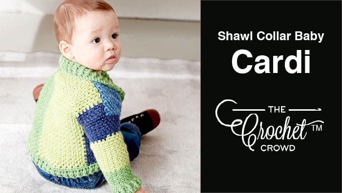 Crochet Shawl Collar Baby Cardigan