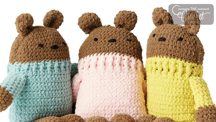 Crochet Square Bears Tutorial The Crochet Crowd