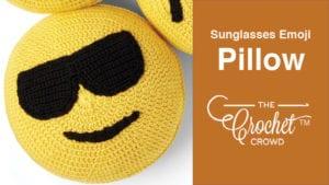 Crochet Sunglasses Emoji Pillow