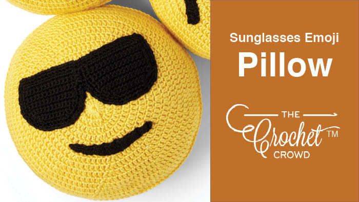 Crochet Sunglasses Emoji Pillow