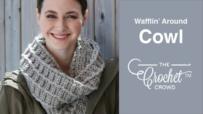 Crochet Waffling Around Cowl