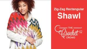 Crochet Zig Zag Rectangular Shawl
