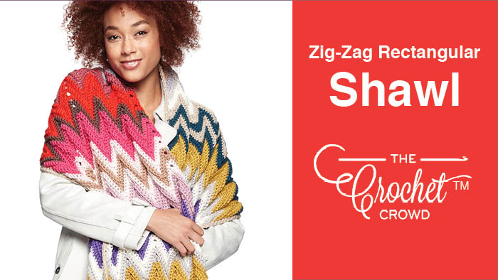 Crochet Zig Zag Rectangular Shawl