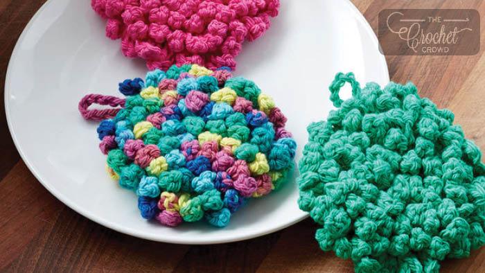 Crochet Dish Scrubby Pattern + Tutorial