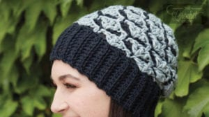 Crochet Shadow Shells Stitch Hat