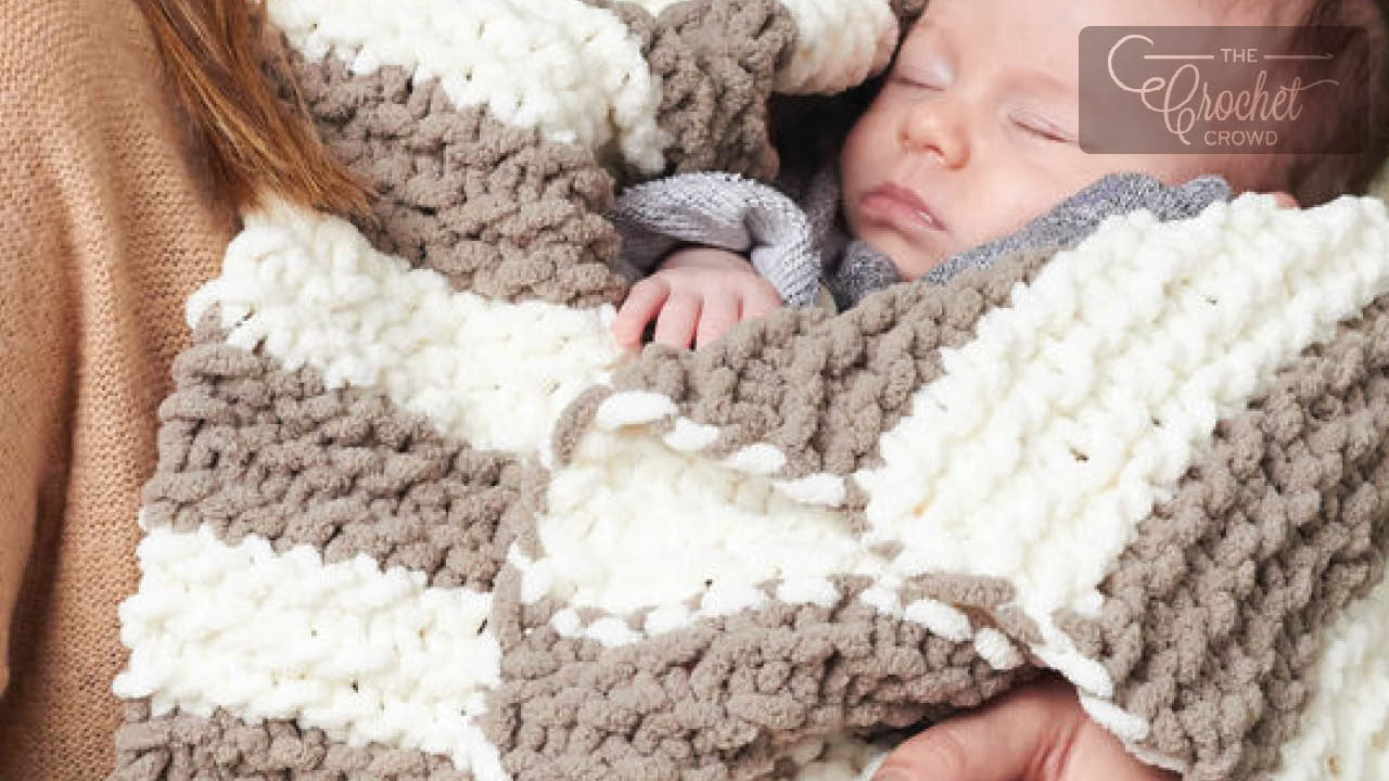Bernat Knit Blanket for Beginners