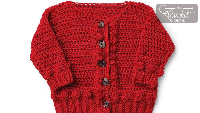 Crochet Baby Bobbles Sweater Pattern