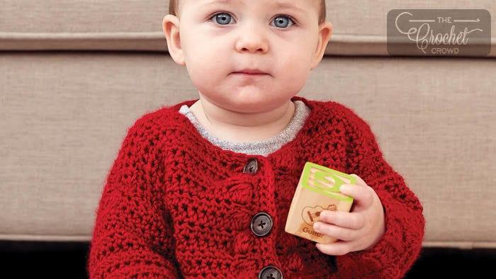 Crochet Bobble Baby Sweater