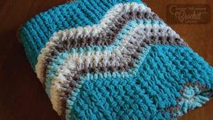 Crochet Breakaway Waves Blanket by Jeanne Steinhilber