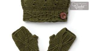 Crochet Button Slouchy Set