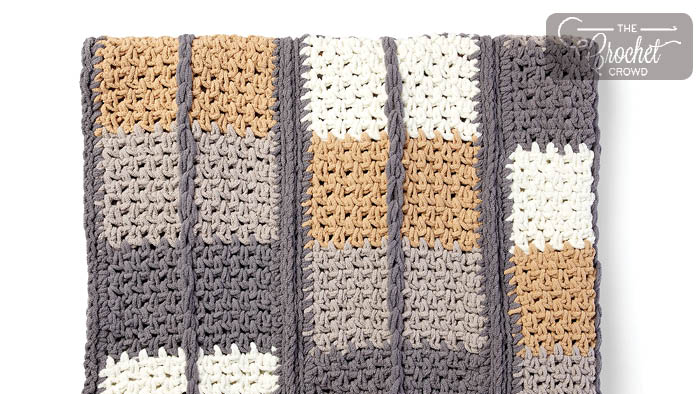 Crochet Keep In Check Blanket Pattern