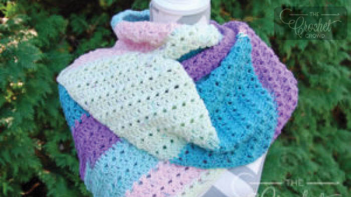 Crochet One Big Cake Asymmetrical Scarf Pattern
