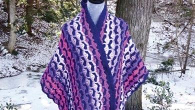 Crochet Pulse Stitch Wrap