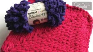 My First Knit Baby Blanket featuring Bernat Alize Blanket-EZ