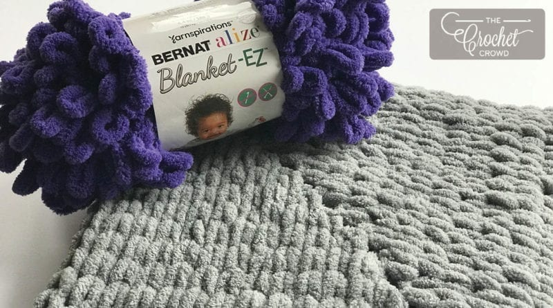My First Knit Rectangle Baby Blanket with Bernat Alize Blanket EZ