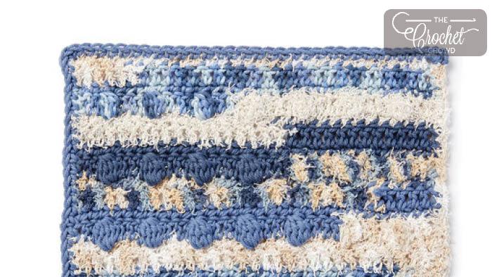 Crochet Scrubbing Bobbles Dishcloth
