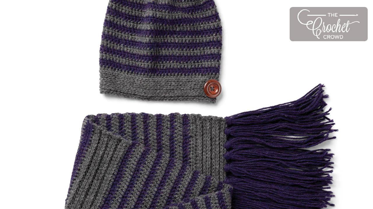 Crochet Slouchy Hat & Scarf Set Pattern